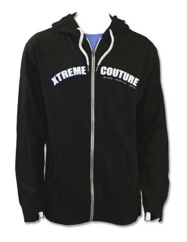 Xtreme Couture Zip Up Hood - Black