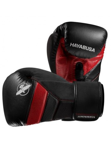 Hayabusa Tokushu T3 Boxing Gloves - Black/Red