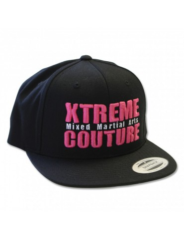 Xtreme Couture Snapback Hat - Black / Pink