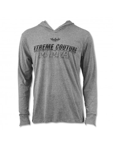 Xtreme Couture Swift Hooded LS Tee - Heather Grey