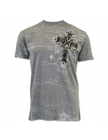 Xtreme Couture Corrosion T-Shirt - Charcoal