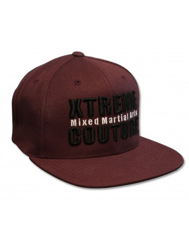 Xtreme Couture Snapback Hat - Maroon