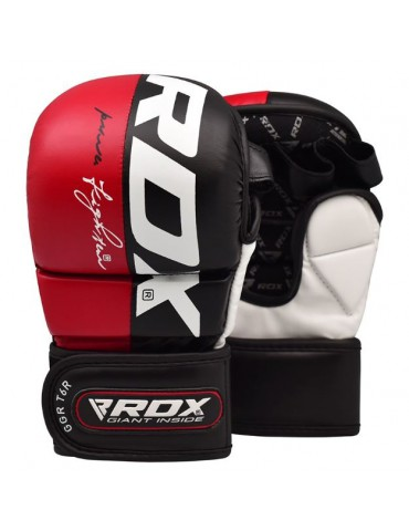 RDX T6 MMA Grappling Gloves - Red