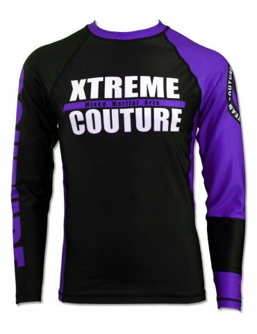 Xtreme Couture Rank LS Rashguard - Purple