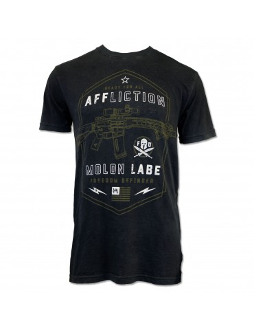 Affliction Molon Labe - Black Lava Wash
