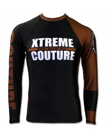 Xtreme Couture Rank LS Rashguard - Brown