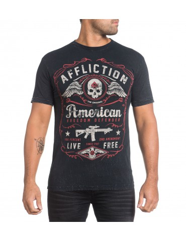 Affliction American Defender - Black Lava Wash