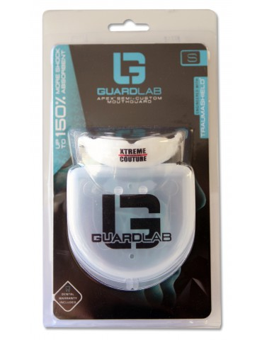 GUARDLAB XCMMA Logo Mouthguard - White