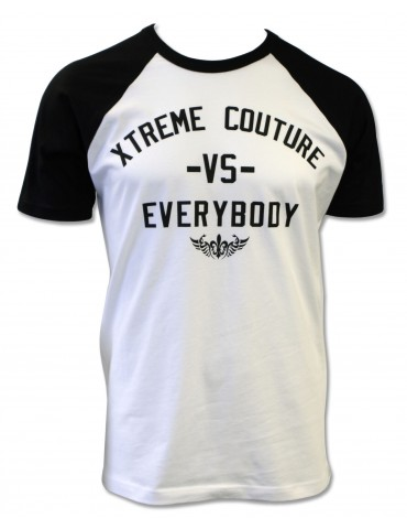 Xtreme Couture VS Everybody SS Raglan Tee  - White/Black