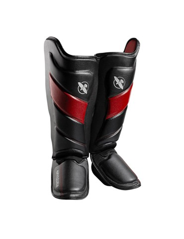 Hayabusa Tokushu Shin Guard - Black/Red