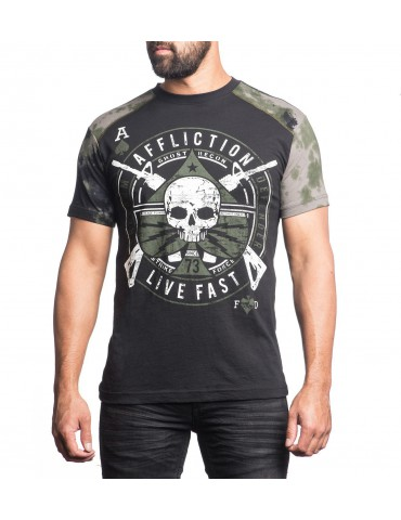 Affliction Ace Lightning - Black Vapor Wash