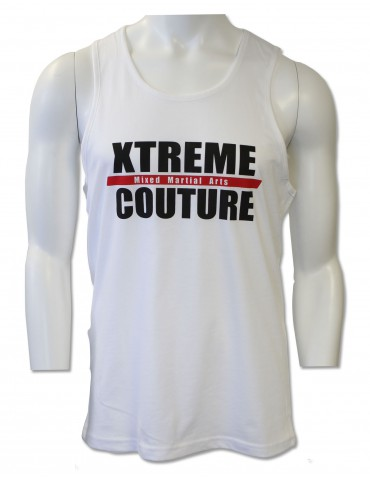 Xtreme Couture Block Logo Mens Tank - White