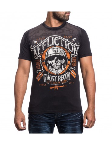 Affliction Mess Hall - Black Resin Wash
