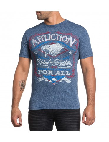 Affliction Freedom Rebel - Navy Wash