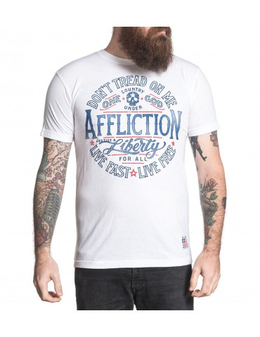 Affliction Liberty For All - White Wash
