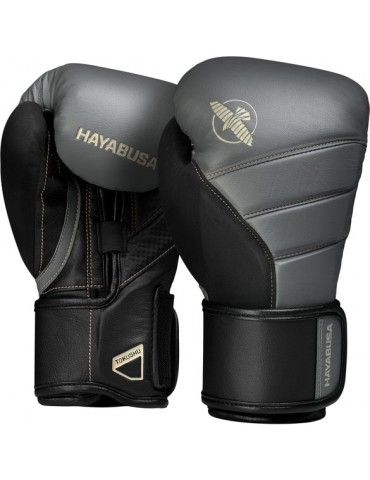Hayabusa Tokushu T3 Boxing Gloves - Black/Charcoal