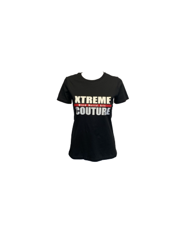 Xtreme Couture Womens Block Logo BF Tee - Black
