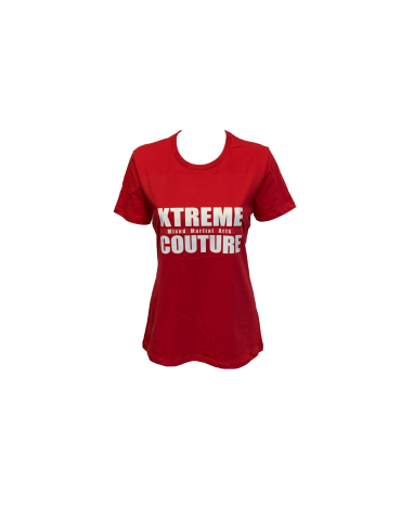 Xtreme Couture Womens Block Logo BF Tee - Red